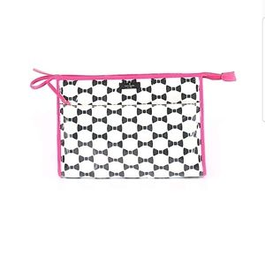 KATE SPADE Bow Print Oversized Cosmetic Bag